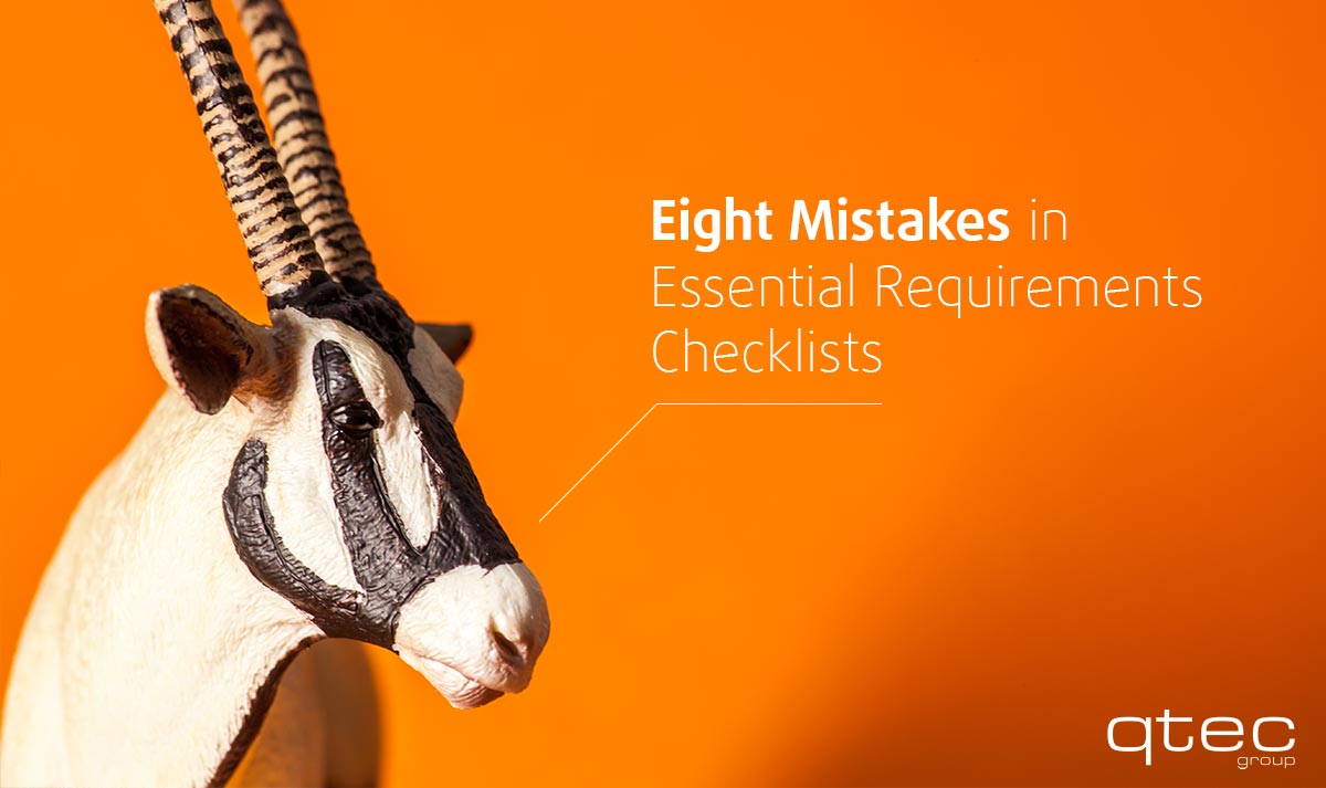 Eight Mistakes in Essential Requirements Checklists