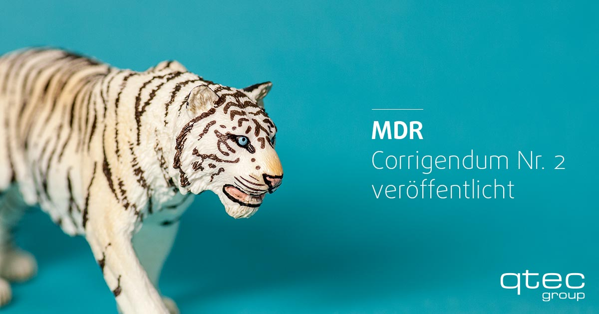 qtec | Medical Device Regulation: Corrigendum Nr. 2 veröffentlicht