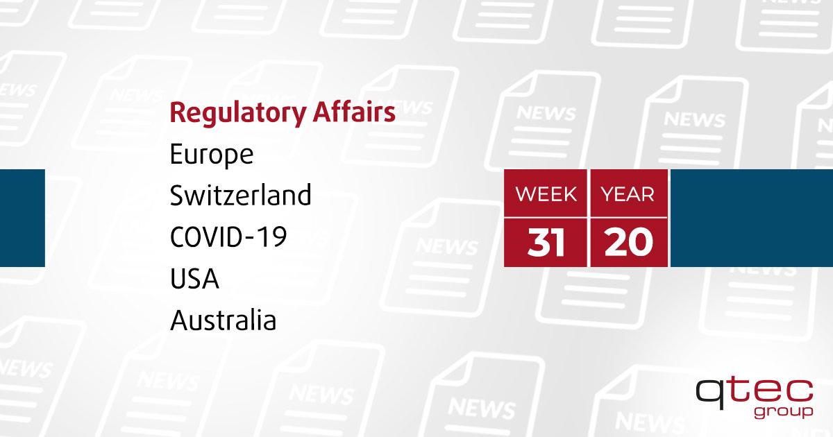 Regulatory Affairs Updates | CW31| qtec-group