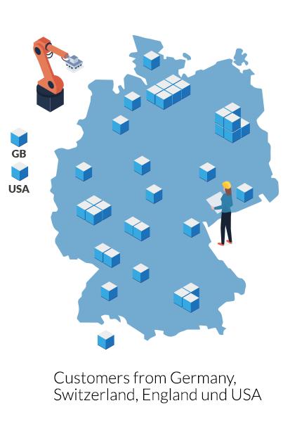Qtec Illustration customers on the map