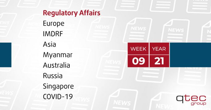 Regulatory Affairs Updates | CW09 21| qtec-group