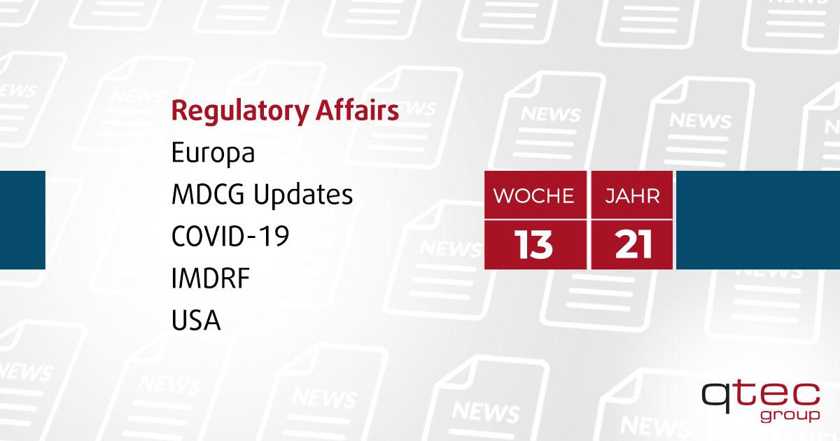 Regulatory Affairs Updates | KW13 21| qtec-group