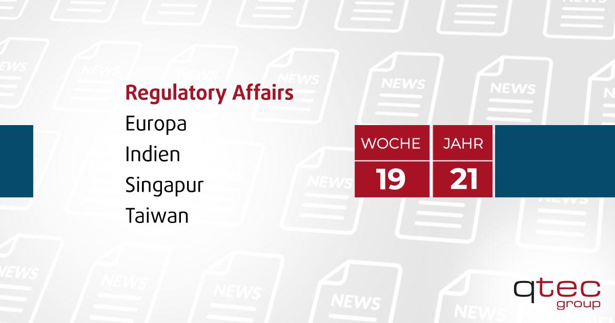 qtec group | Regulatory Affairs Update KW19 2021 DE| qtec-group