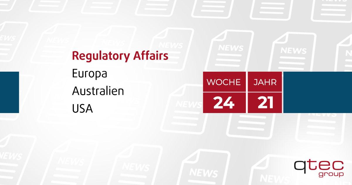 qtec group| Regulatory Affairs Update KW24 2021 DE| qtec-group